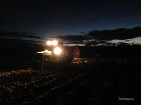 The GPS Will Kept The Tractor Running Straight Night Or Day