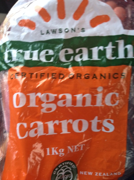 "Some ""True Earth"" Carrots"